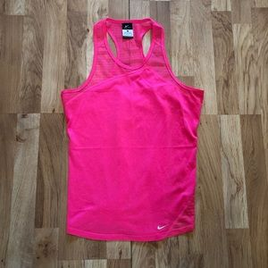 Nike Dri-Fit Hot Pink Mesh Tank Large